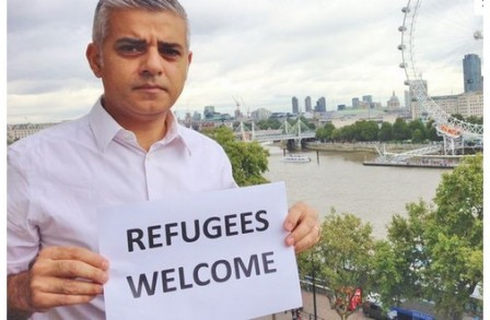 Sadiq_Khan_maire_Londres_refugees_welcome